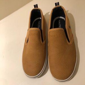 Nautica boys slip-on suede sneakers